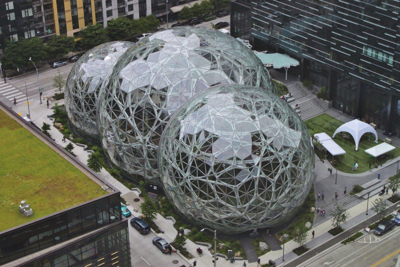 Sede da Amazon, que opera o Prime Video