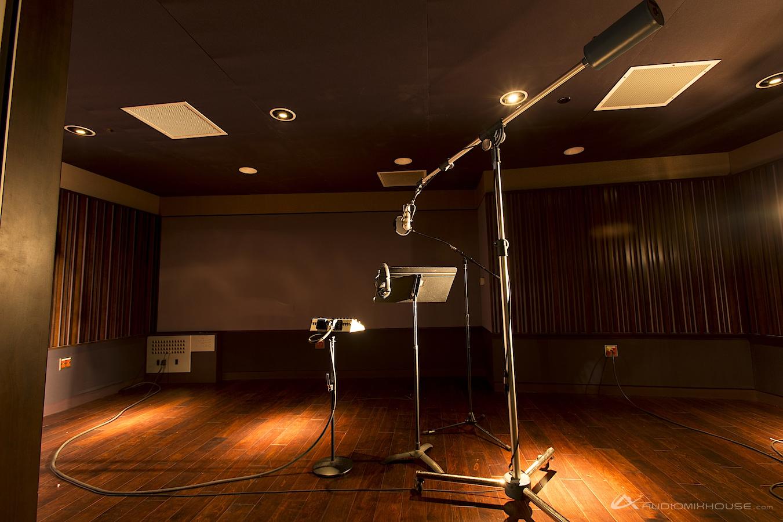 Estúdio e microfone