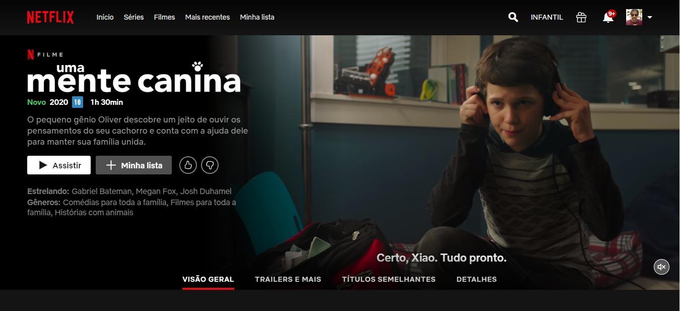 Uma Mente Canina, Think Like a Dog, na Netflix