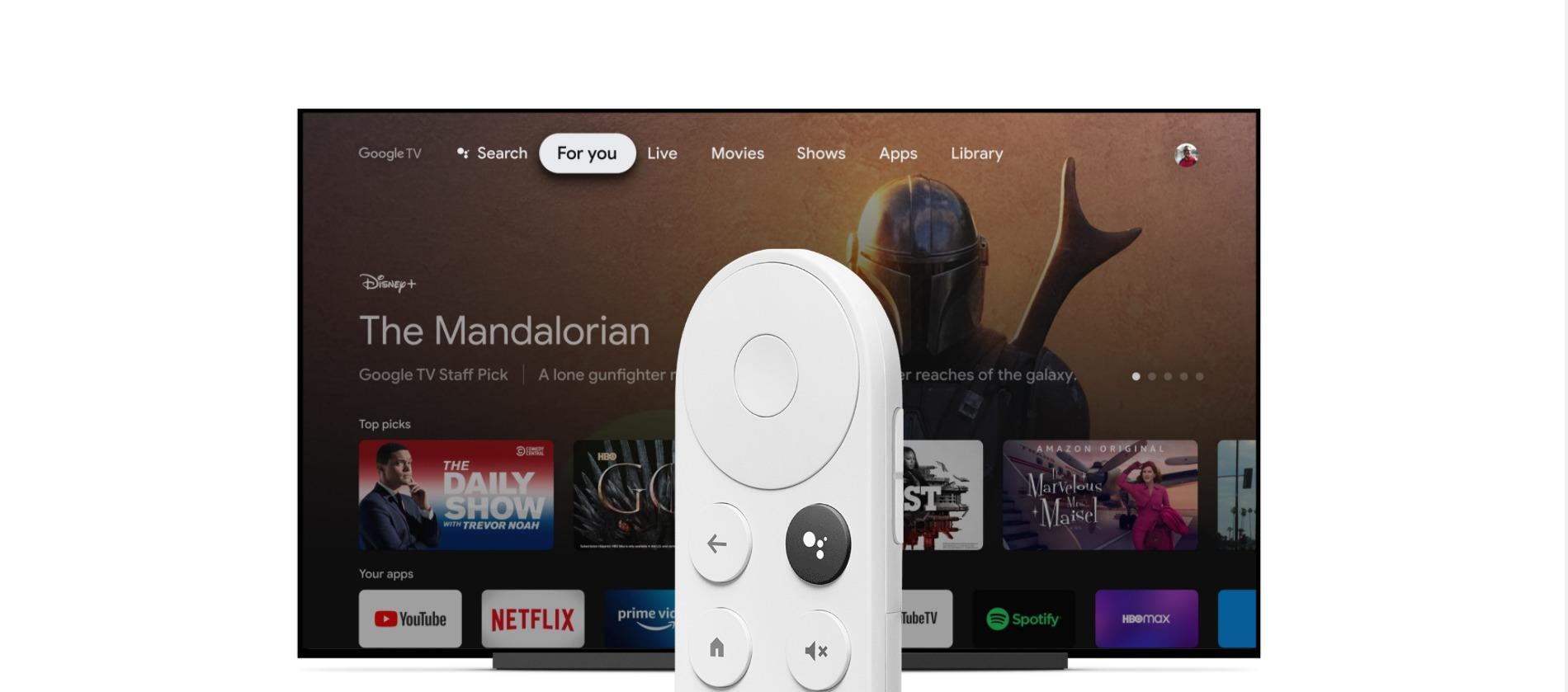 O novo Chromecast, que roda a Google TV (crédito: divulgação / Google)