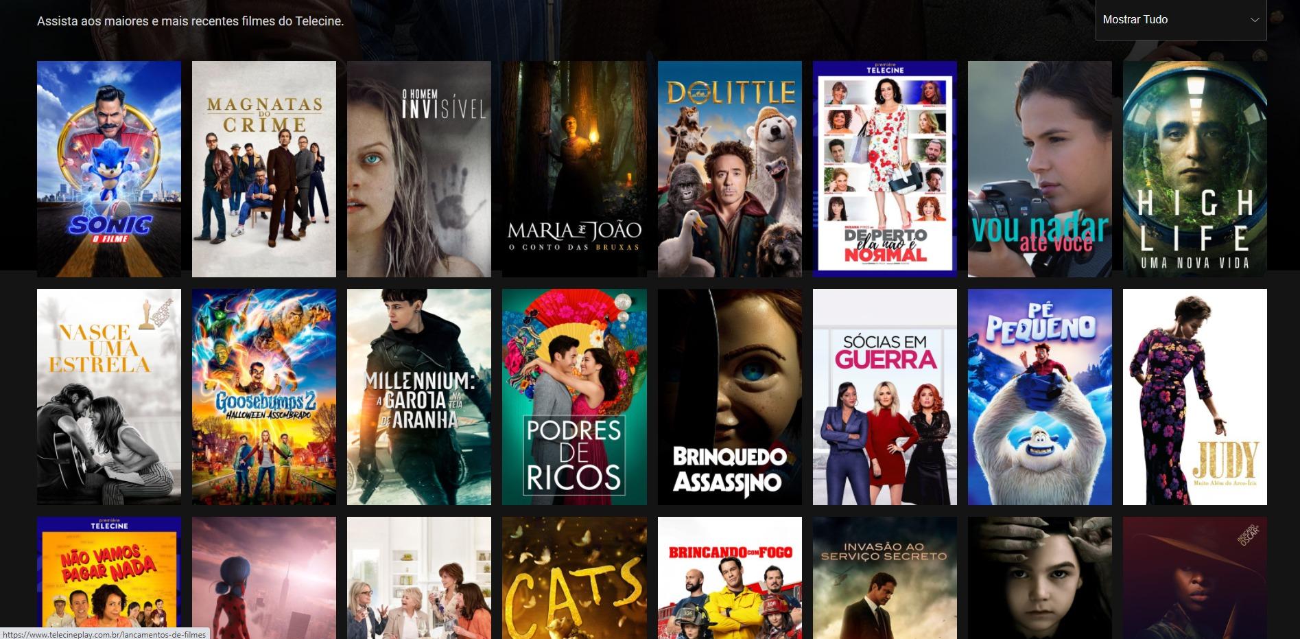 Em bundle com o Globoplay, o Telecine traz um catálogo de 2 mil filmes para assistir (Imagem: reprodução / Telecine)