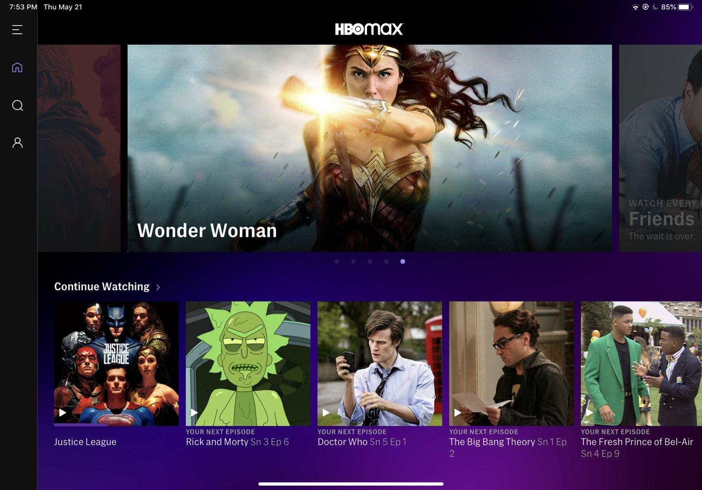 Tela do HBO Max, que chega ao Brasil em junho: plataforma irá mesclar conteúdo brasileiro e internacional (Imagem: divulgação / WarnerMedia)