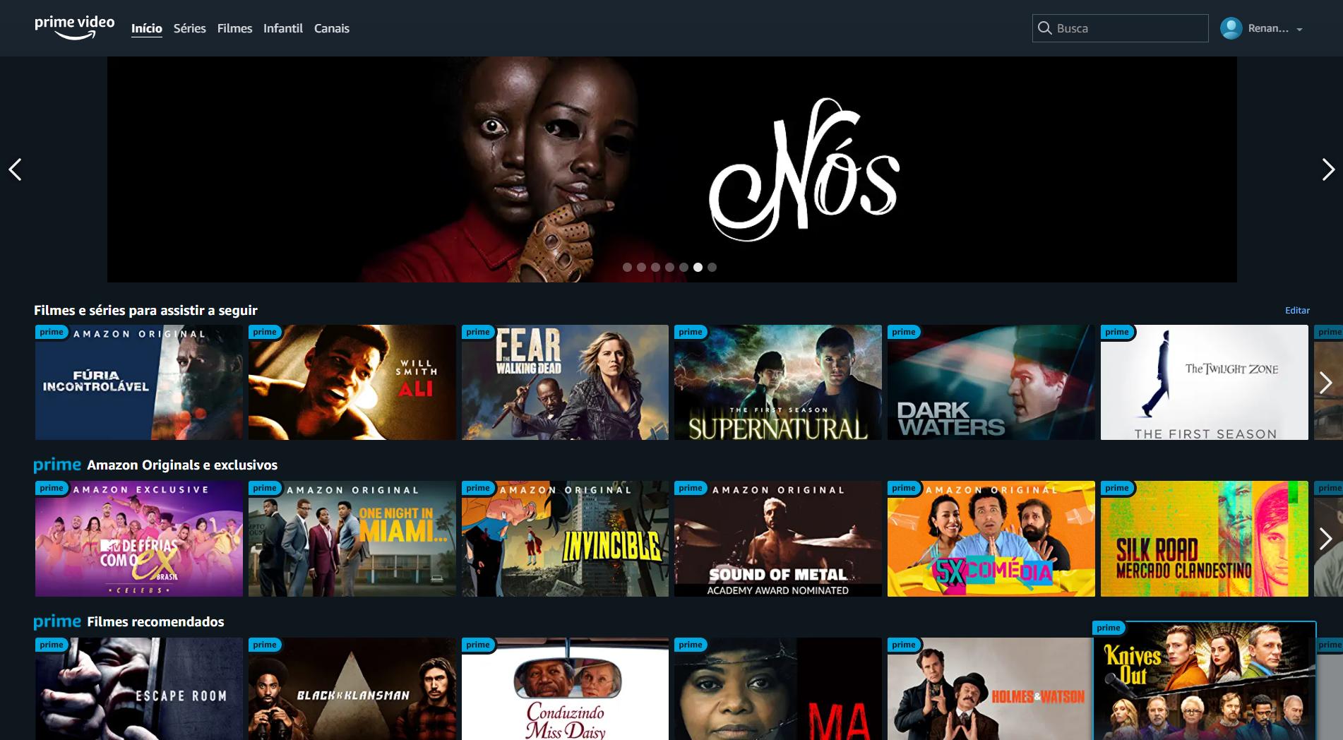 O Prime Video é um dos serviços inclusos dentro do pacote do Amazon Prime (Imagem: reprodução / Amazon)