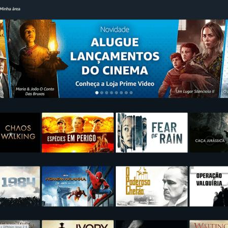 Amazon lança no Brasil a Loja Prime Video, com aluguel e compra de filmes