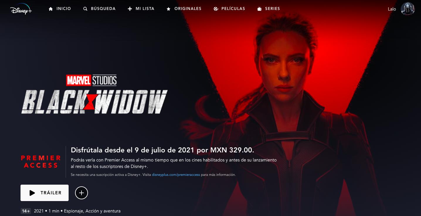 Black Widow en Premier Access