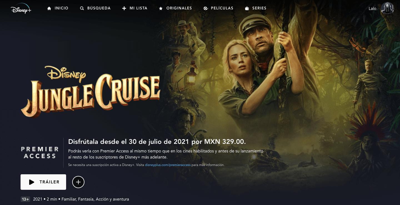Jungle Cruise en Disney Premier Access