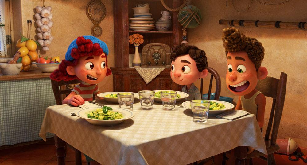 El diseño de personajes en Luca, de Pixar