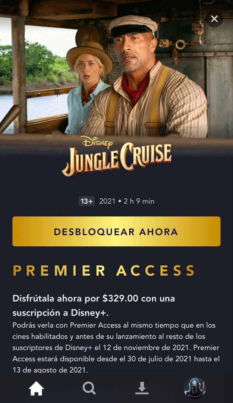 'Jungle Cruise' en Disney+ Premier Access